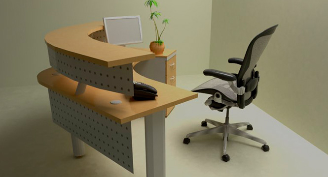 Jafher somos expertos en muebles para oficinas for Muebles de oficina recepcion